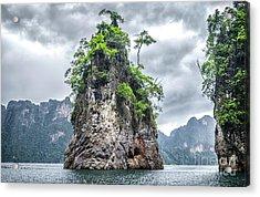Rocks At Khao Sok Acrylic Print