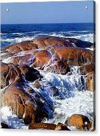 Rocks Awash Acrylic Print