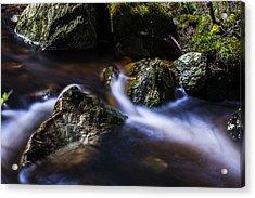 Rocks In A Stream Acrylic Print