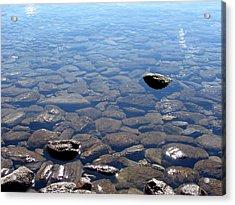 Rocks In Calm Waters Acrylic Print