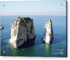 Rocks In Sea Acrylic Print