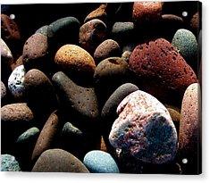 Rocks Of Lake Superior Acrylic Print by Bridget Johnson