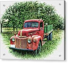 Rocks Old Truck Acrylic Print by Pamela Baker