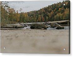 Rocks On Cumberland River Acrylic Print