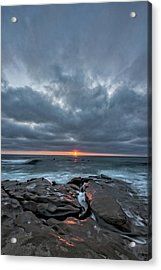 Rocks On Fire Acrylic Print by Peter Tellone