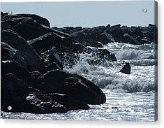 Rocks On The Jetti At Cocoa Beach Acrylic Print