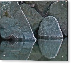 Rocks Acrylic Print by Wilbur Young