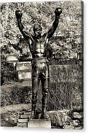 Rocky Balboa In Sepia Acrylic Print by Bill Cannon