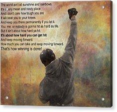 Rocky Balboa Inspirational Quote Acrylic Print