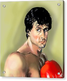 Rocky Balboa Acrylic Print by Vinny John Usuriello