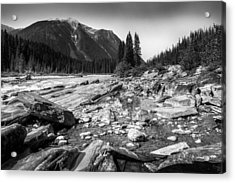 Rocky Banks Of Kootenay River Acrylic Print