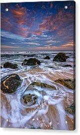 Rocky Beach At Sandy Hook Acrylic Print by Rick Berk