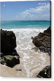 Acrylic Print featuring the photograph Rocky Beach In The Caribbean by Margaret Bobb