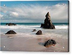 Rocky Beach On Sango Bay Acrylic Print