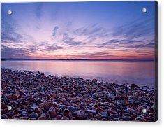 Rocky Beach On The Coast Of The Sea Of Japan, Sunset, Long Expos Acrylic Print