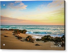 Acrylic Print featuring the photograph Rocky Beach by Tom Claud