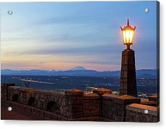 Rocky Butte Viewpoint At Sunset Acrylic Print by David Gn