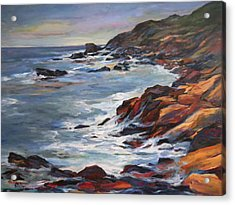 Rocky Coast Acrylic Print by Pati Maguire