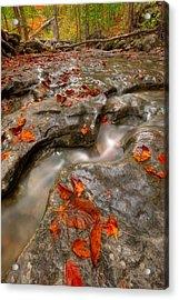 Rocky Creek Acrylic Print by Ryan Heffron