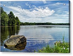 Rocky Fork Lake Acrylic Print by Cricket Hackmann
