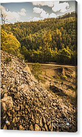 Rocky Hills And Forestry Views Acrylic Print