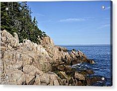Rocky Maine Coast Acrylic Print by Brendan Reals