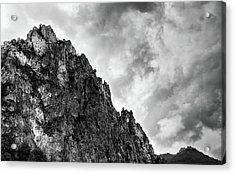 Acrylic Print featuring the photograph Rocky Mountain And Stormy Cloudy Sky by Michalakis Ppalis