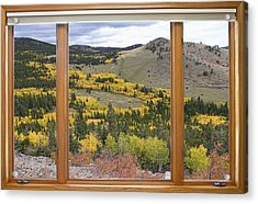 Rocky Mountain Autumn Picture Window View Acrylic Print by James BO  Insogna