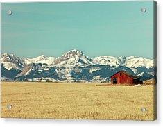 Rocky Mountain Barn Acrylic Print by Todd Klassy