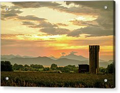 Acrylic Print featuring the photograph Rocky Mountain Front Range Country Landscape by James BO Insogna