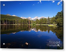 Rocky Mountain Lake In A Colorado National Park Acrylic Print by ELITE IMAGE photography By Chad McDermott
