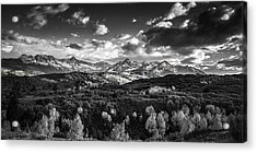 Acrylic Print featuring the photograph Rocky Mountain Panorama by Andrew Soundarajan