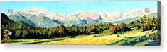 Rocky Mountain Panoramic Acrylic Print by Mary Giacomini