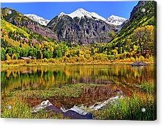 Rocky Mountain Reflections - Telluride - Colorado Acrylic Print by Jason Politte