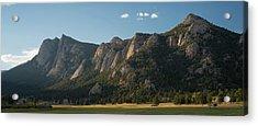 Rocky Mountain Ridge Estes Park Co Acrylic Print by Steve Gadomski