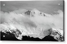 Rocky Mountain Snowy Peak Acrylic Print