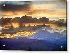 Rocky Mountain Springtime Sunset 3 Acrylic Print by James BO  Insogna