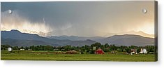 Acrylic Print featuring the photograph Rocky Mountain Storming Panorama by James BO Insogna