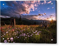 Rocky Mountain Summer Sunset Acrylic Print