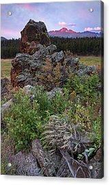 Rocky Mountain Sunrise Acrylic Print by John Vose