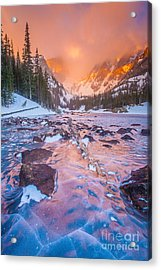Rocky Mountain Sunrise Acrylic Print by Steven Reed