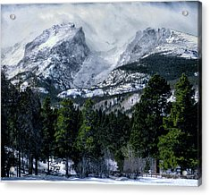 Rocky Mountain Winter Acrylic Print by Jim Hill