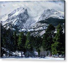 Rocky Mountain Winter Acrylic Print