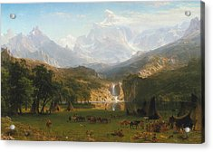 Rocky Mountains Acrylic Print by Albert Bierstadt