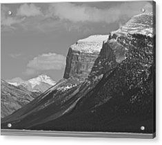 Acrylic Print featuring the photograph Rocky Mountains - B/w by Josef Pittner