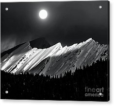Rocky Mountains In Moonlight Acrylic Print