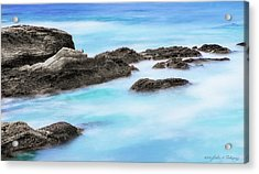 Acrylic Print featuring the photograph Rocky Ocean by John A Rodriguez