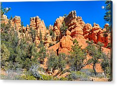 Acrylic Print featuring the photograph Rocky Range At Red Canyon by John M Bailey