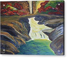 Rocky River Falls Acrylic Print by Edward Walsh