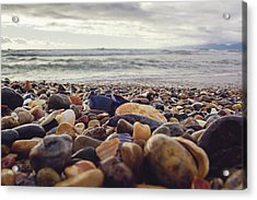 Rocky Shore Acrylic Print by April Reppucci